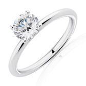 Lab Created 1 Carat Diamond Ring in 14kt White Gold