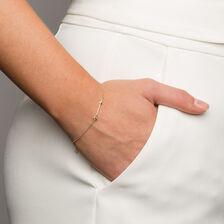 """19cm (7.5"""") Arrow Bracelet in 10kt Yellow Gold"""
