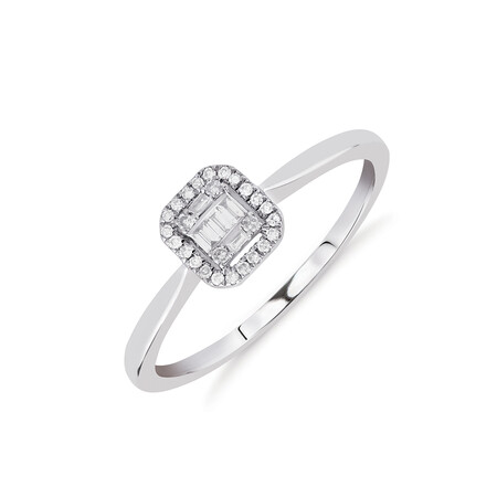 Promise Ring with 0.10 Carat TW of Diamonds in 10kt White Gold