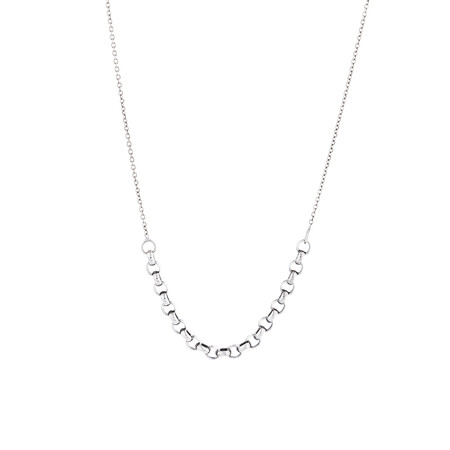 "45cm (18"") Fancy Cable Chain in 14kt White Gold"