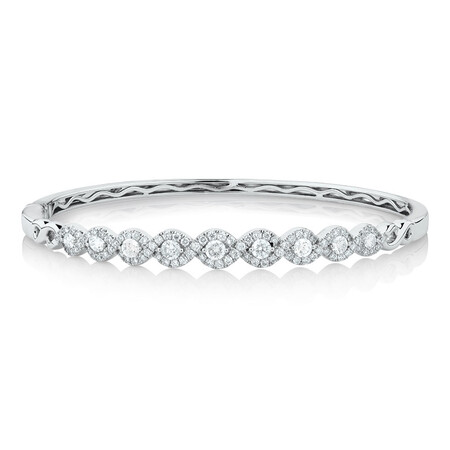 Bangle with 1 1/2 Carat TW of Diamonds in 14kt White Gold