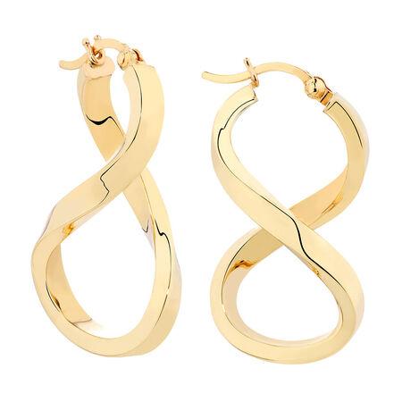 Twist Hoop Earrings in 14kt Yellow Gold