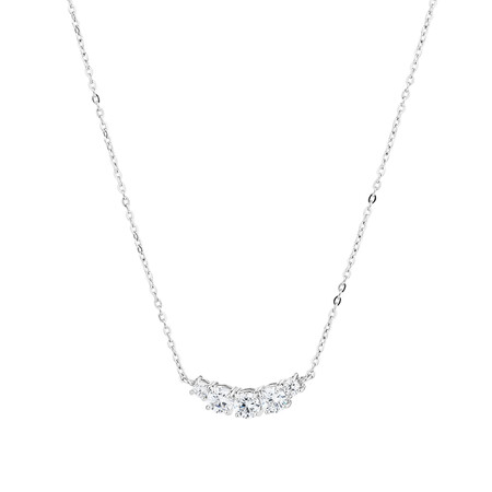 Necklace with Cubic Zirconia in Sterling Silver