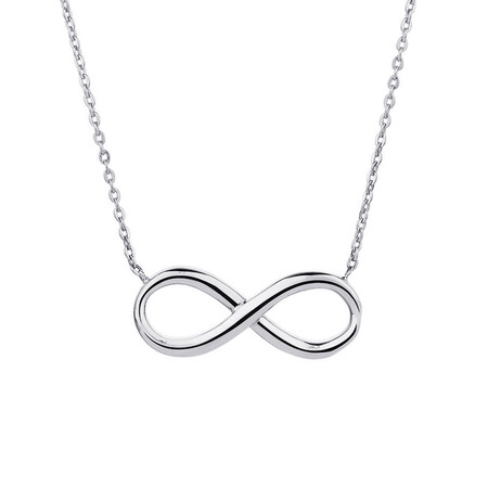 Infinity Necklace in 10kt White Gold