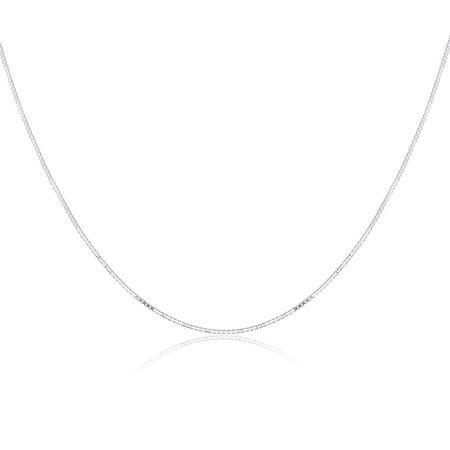 "40cm (16"") Box Chain in Sterling Silver"