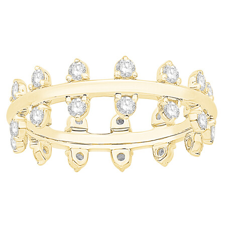 Zipper Ring with 0.89 Carat TW of Diamonds in 10kt Yellow Gold