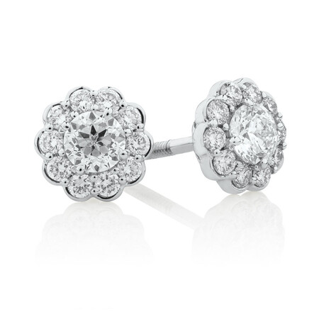 Southern Star Stud Earrings with 1/2 Carat TW of Diamonds in 14kt White Gold