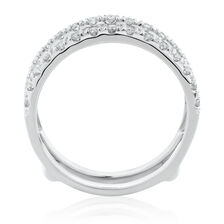 Enhancer Ring with 1/4 Carat TW of Diamonds in 10kt White Gold