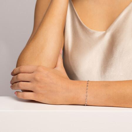"""19cm (7"""") Fancy Bracelet in 10ct White Gold"""