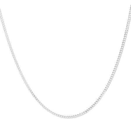 "60cm (24"") Curb Chain in 925 Sterling Silver"