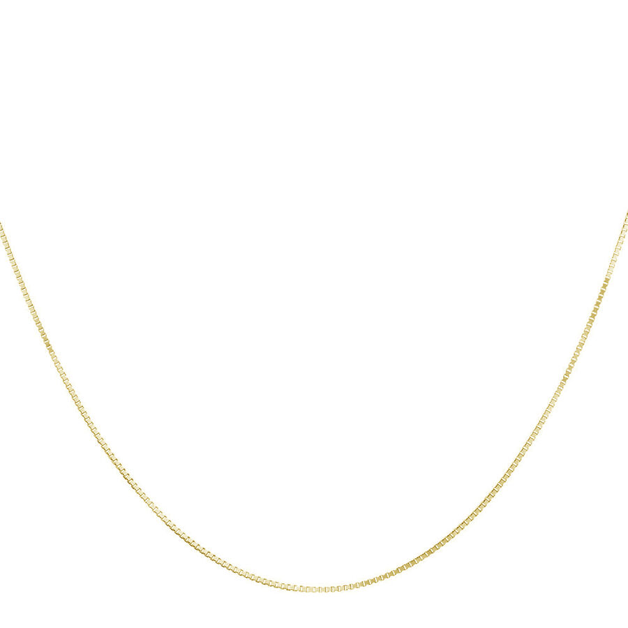 """45cm (18"""") Box Chain in 18kt Yellow Gold"""