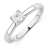 Whitefire Solitaire Engagement Ring with a 1/2 Carat TW Diamond In 18kt White & 22kt Yellow Gold