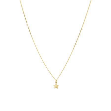 Star Pendant in 10kt Yellow Gold