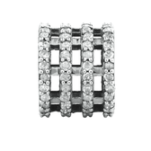 Charm with 1/2 Carat TW of Diamonds in Sterling Silver
