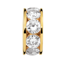 10kt Yellow Gold Cubic Zirconia April Charm