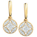 Drop Earrings with 1/4 Carat TW of Diamonds in 10kt Yellow Gold