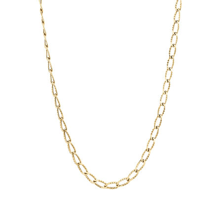 """45cm (18"""") Oval Chain in 10kt Yellow Gold"""
