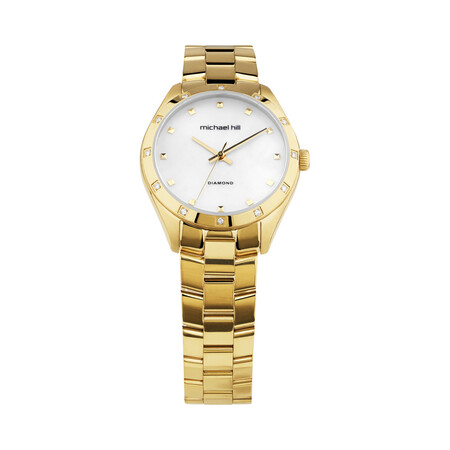 Ladies Watch with Diamonds in Gold Tone Stainless Steel