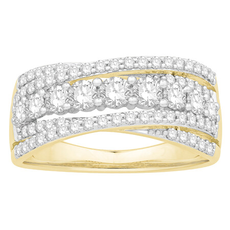 Ring with 1.00 Carat TW of Diamonds in 10kt Yellow Gold