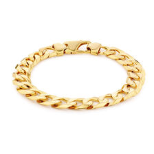 "23cm (9.5"") Men's Curb Bracelet in 10kt Yellow Gold"