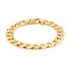 "23cm (9.5"") Men's Curb Bracelet in 10kt Yellow Gold"