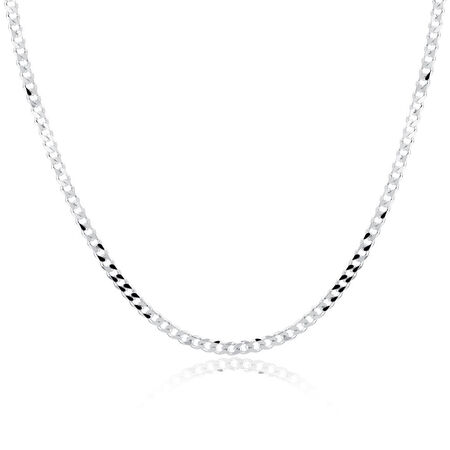 "55cm (22"") Men's Curb Chain in Sterling Silver"