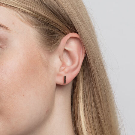 Bar Stud Earrings in 10kt Rose Gold