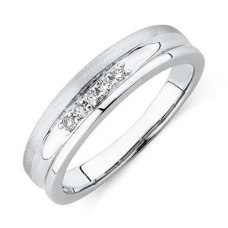 Ring with 0.10 Carat TW of Diamonds in 10kt White Gold