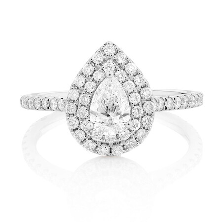 Sir Michael Hill Designer GrandArpeggio Engagement Ring with 1.21 Carat TW of Diamonds in 14kt White Gold