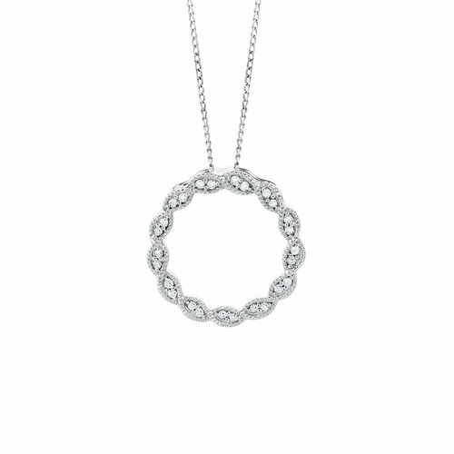 Pendant with 0.10 Carat TW of Diamonds in 10kt White Gold