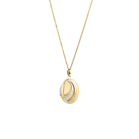 Oval Locket in 10kt Yellow Gold