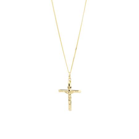 Crucifix Cross Pendant in 10kt Yellow Gold