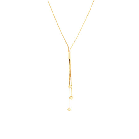 """45cm (18"""") Ball Necklace in 18kt Yellow Gold"""