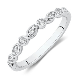 Evermore Wedding Band with Diamonds in 10kt White Gold