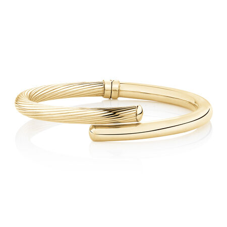 Oval Bangle in 14kt Yellow Gold