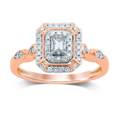 Ring with 0.40 Carat TW of Diamonds in 14kt Rose Gold