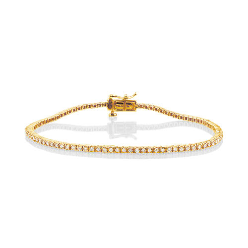 Tennis Bracelet with 1 Carat TW of Diamonds in 10kt Yellow Gold