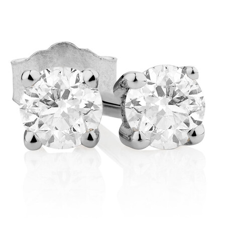Classic Stud Earrings with 0.18 Carat TW of Diamonds in 10kt White Gold