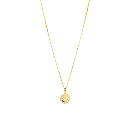 Sagittarius Zodiac Pendant in 10kt yellow Gold