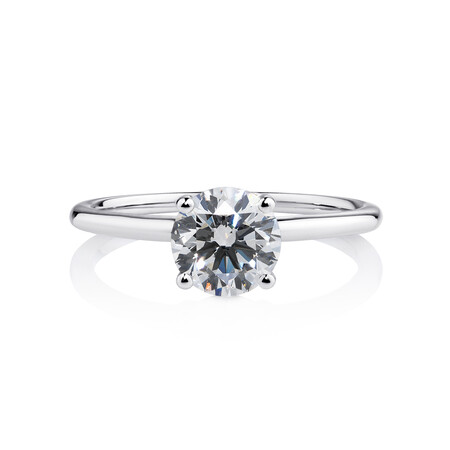 Laboratory-Created 1.50 Carat Diamond Ring in 14kt White Gold