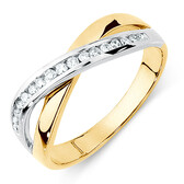 Ring with 0.20 Carat TW of Diamonds in 10kt Yellow & White Gold