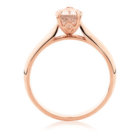 Pear Ring with Morganite in 10kt Rose Gold