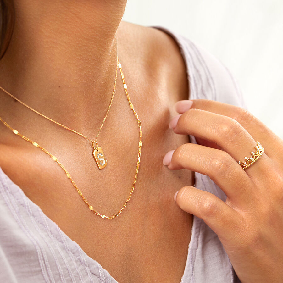50cm Paperclip Chain in 10kt Yellow Gold