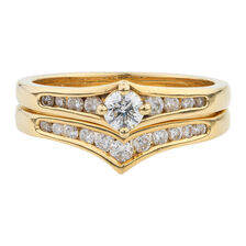 Online Exclusive - Bridal Set with 0.53 Carat TW of Diamonds in 18kt Yellow Gold