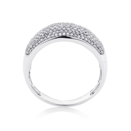 Pave Ring with 0.60 Carat TW of Diamonds in 10kt White Gold