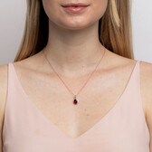 Pendant with Rhodolite Garnet and Diamonds in 10kt Rose Gold
