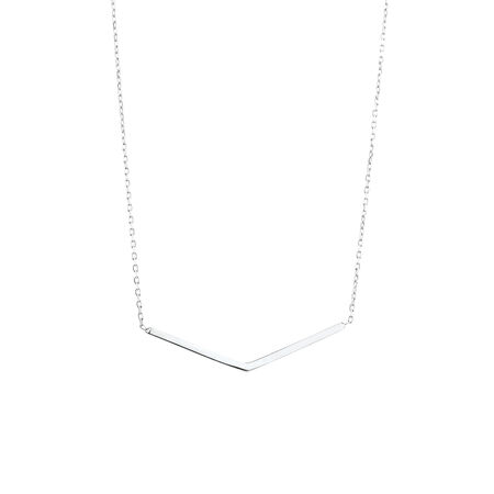 Triangular Necklace in Sterling Silver