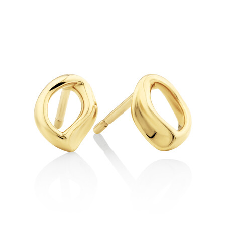 Mini Spirits Bay Stud Earrings In 10kt Yellow Gold