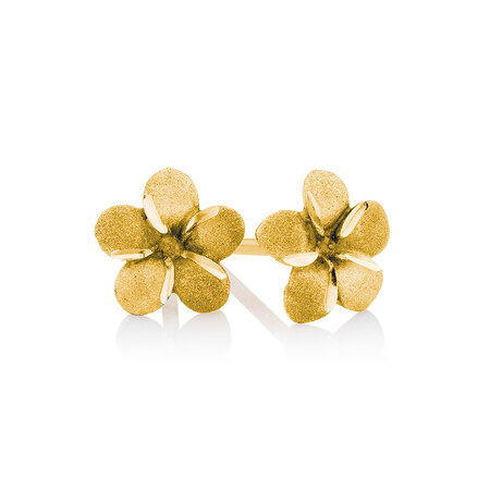 Flower Stud Earrings in 10kt Yellow Gold