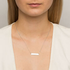 Bar Necklace in 10kt White Gold